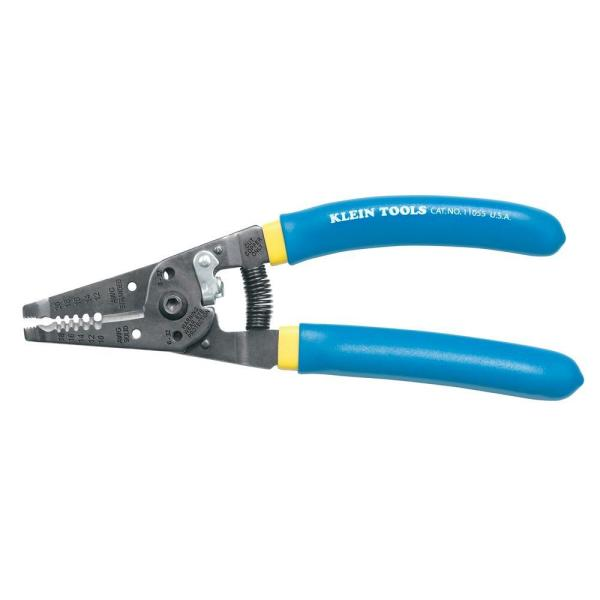 7-1/8 in. Klein-Kurve Wire Stripper/Cutter for 10-18 AWG Solid Wire and 12-20 AWG Stranded Wire