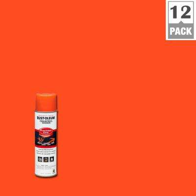 17 oz. M1600 System Precision Line Solvent-Based Alert Orange Inverted Marking Spray Paint (12-Pack)