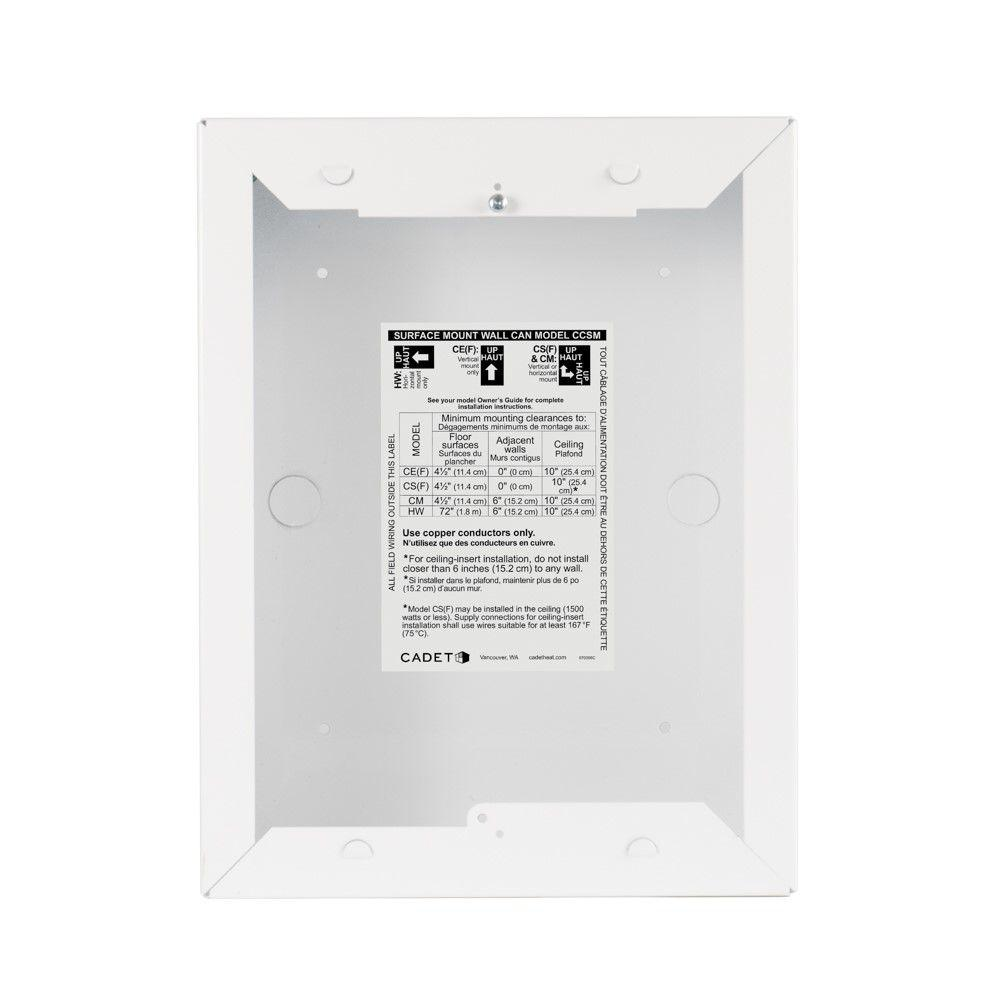 Com-Pak Surface Mount Wall Can in White