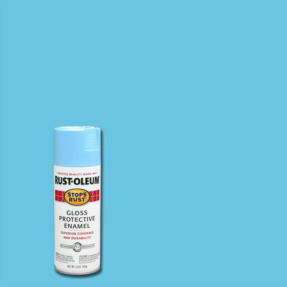 Rust-Oleum Stops Rust 12 oz. Protective Enamel Gloss Harbor Blue Spray Paint (6-Pack)