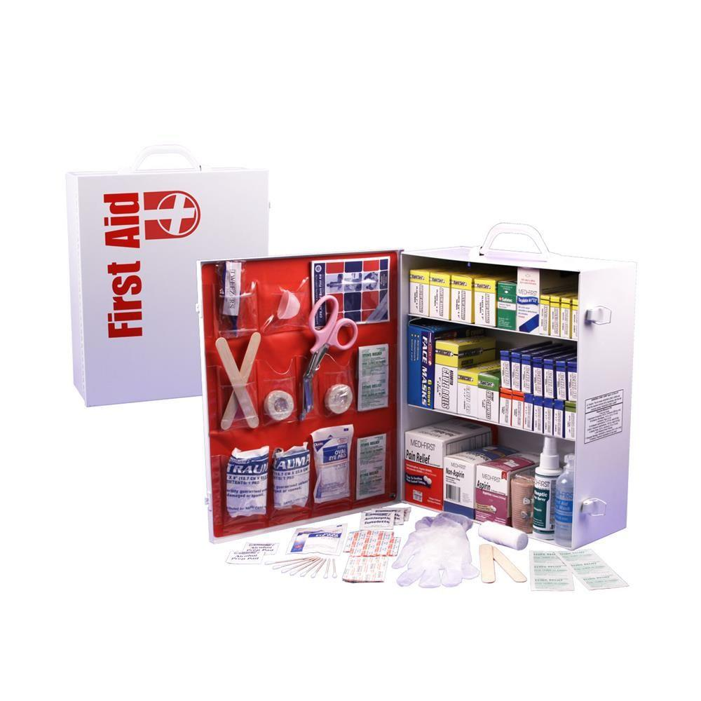 Rapid Care 800-Piece 3 Shelf Osha/Ansi First Aid Cabinet