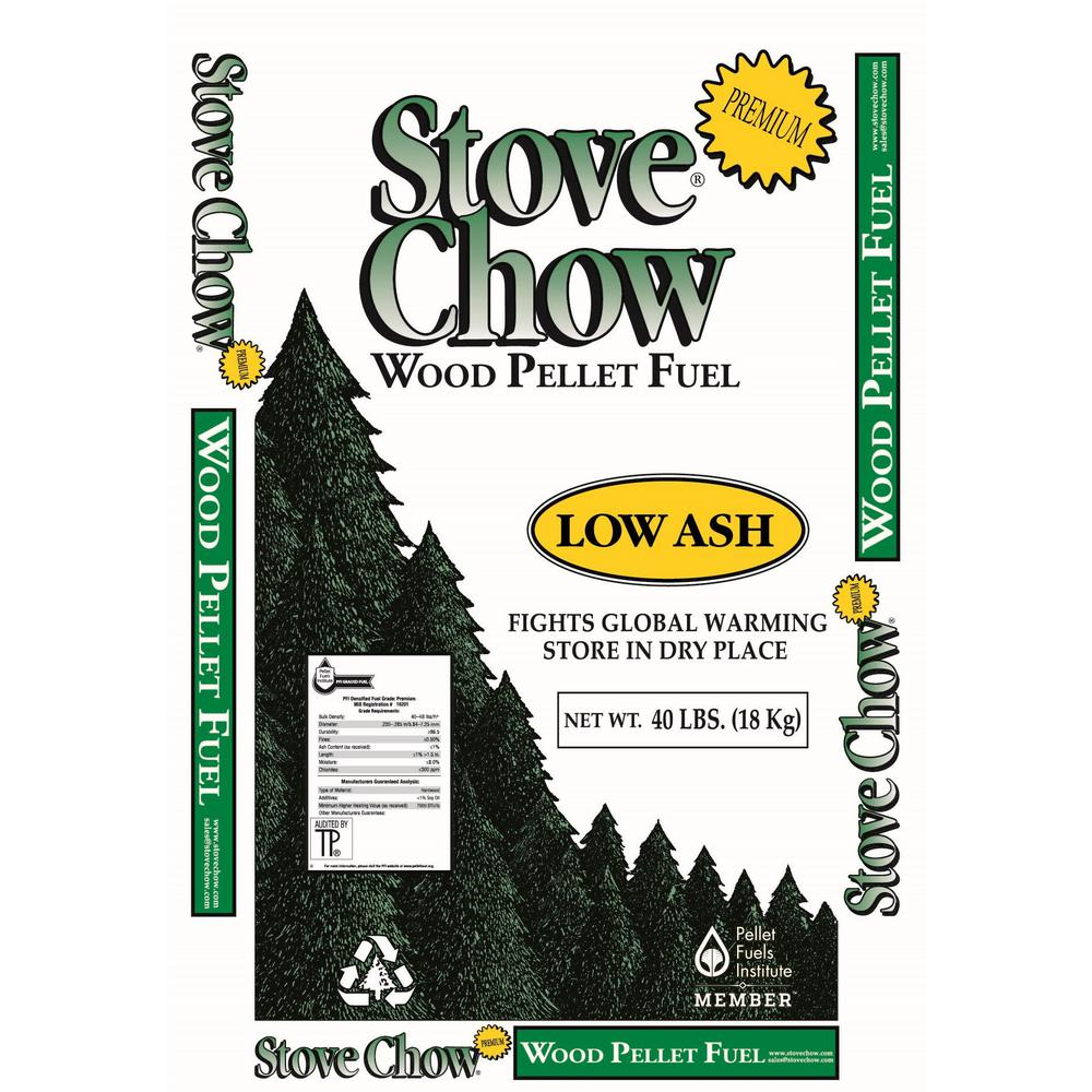 Stove Chow Premium Wood Pellet Fuel 40 lb. Bag-Stove Chow - The ...