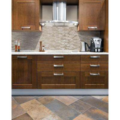Bellagio Sabbia 10.06 in. W x 10.00 in. H Peel and Stick Decorative Mosaic Wall Tile Backsplash (12-Pack)
