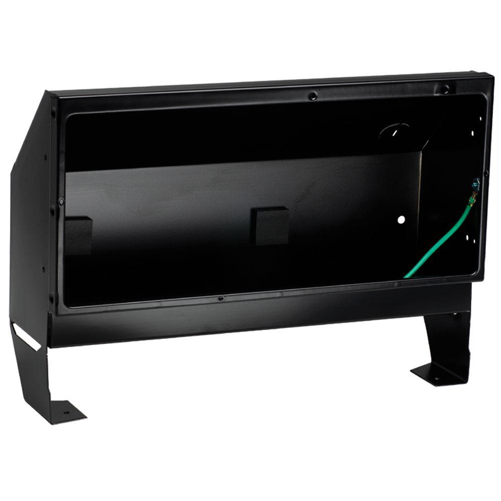 Cadet Register Series Recess Mount Wall Can Only in Black