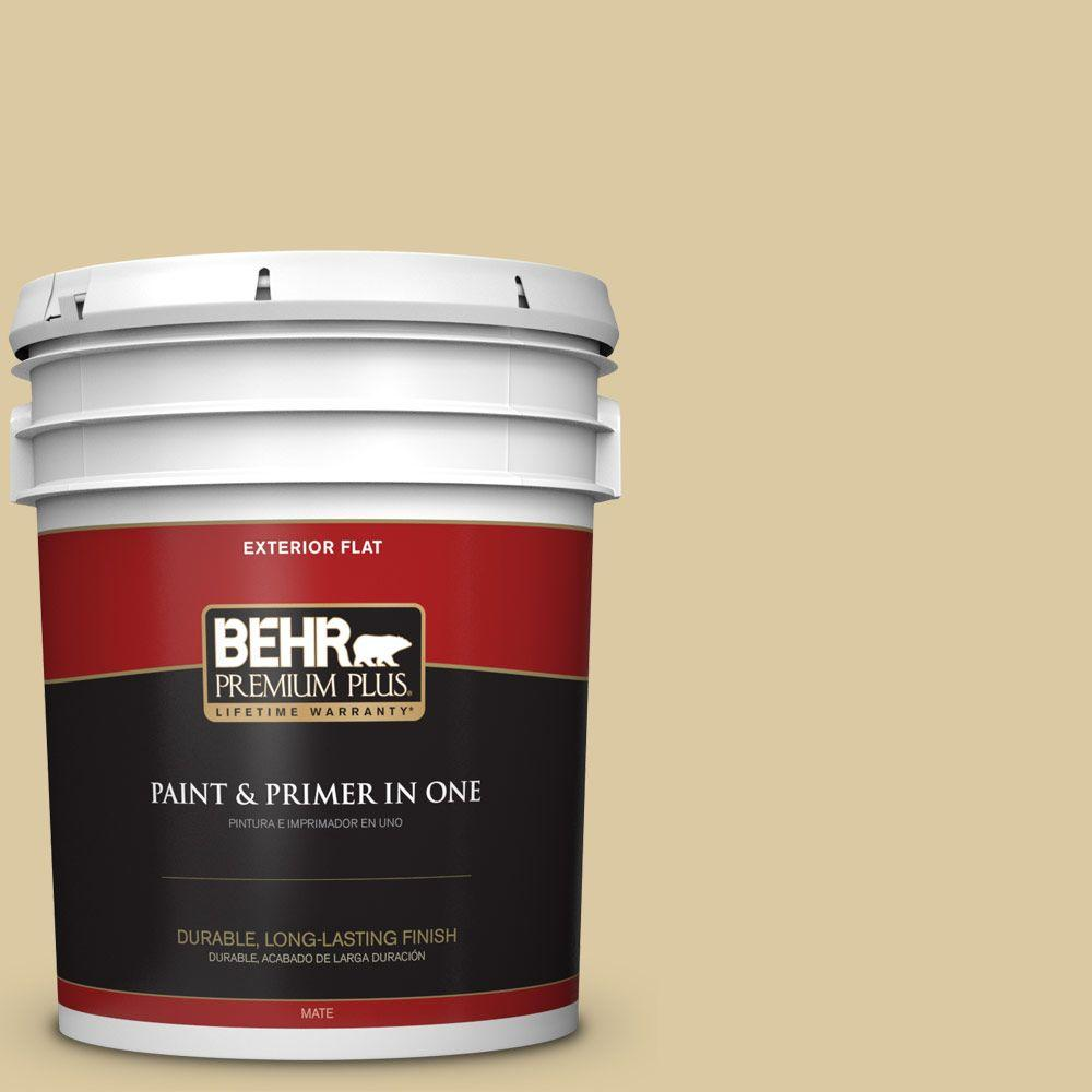 5-gal. #380F-4 Ground Ginger Flat Exterior Paint