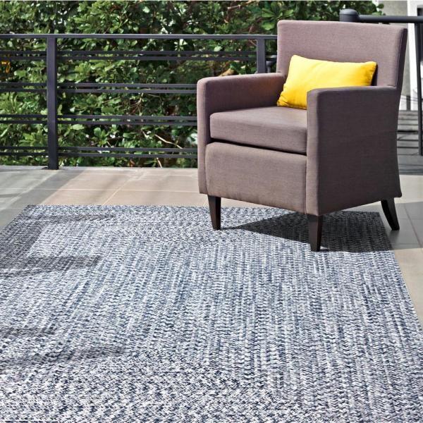 Nuloom Lefebvre Casual Braided Light Blue 4 Ft X 6 Ft Indoor Outdoor Area Rug Hjfv01d 406 The Home Depot