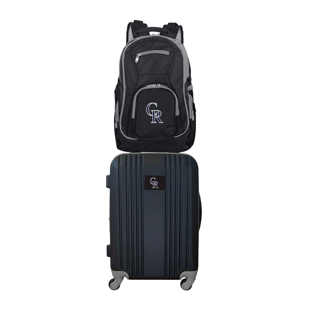 MLB Colorado Rockies 2-Piece Set Luggage and Backpack