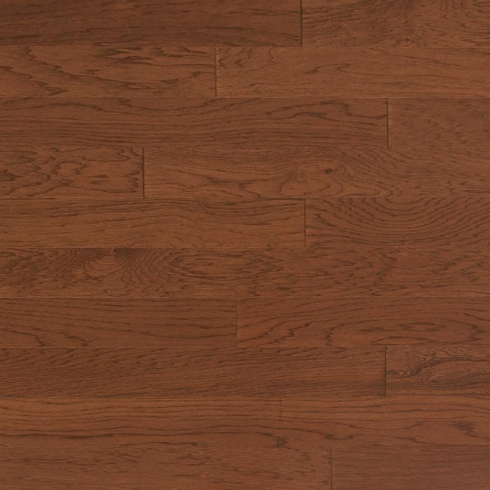 Heritage Mill Take Home Sample Vintage Hickory Mocha Engineered Click Hardwood Flooring 5 In. X 7 In., Brown