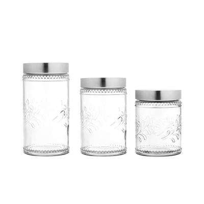 Clear Style Setter Beverage Drink Dispenser Glass with Ice Bucket Metal Stand Embossed Chalkboard 1 Gallon 210165-RB
