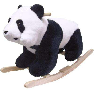 Plush White Panda Bear Rocking Animal