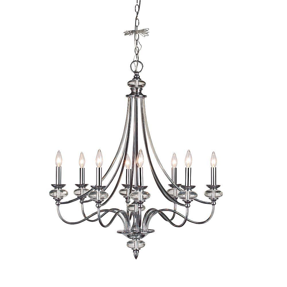 Home Decorators Collection Nottinghill Collection 8-Light Chrome Chandelier