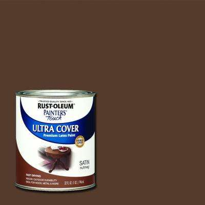 32 oz. Ultra Cover Satin Nutmeg General Purpose Paint (Case of 2)