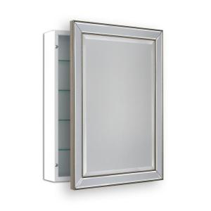 Deco Mirror 22 In W X 30 In H Surface Mount Metro Beaded
