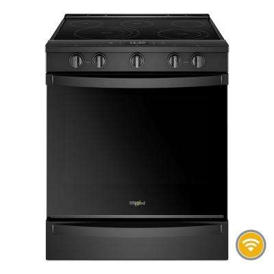 6.4 cu. ft. Smart Slide-In Electric Range with Scan-to-Cook Technology in Black