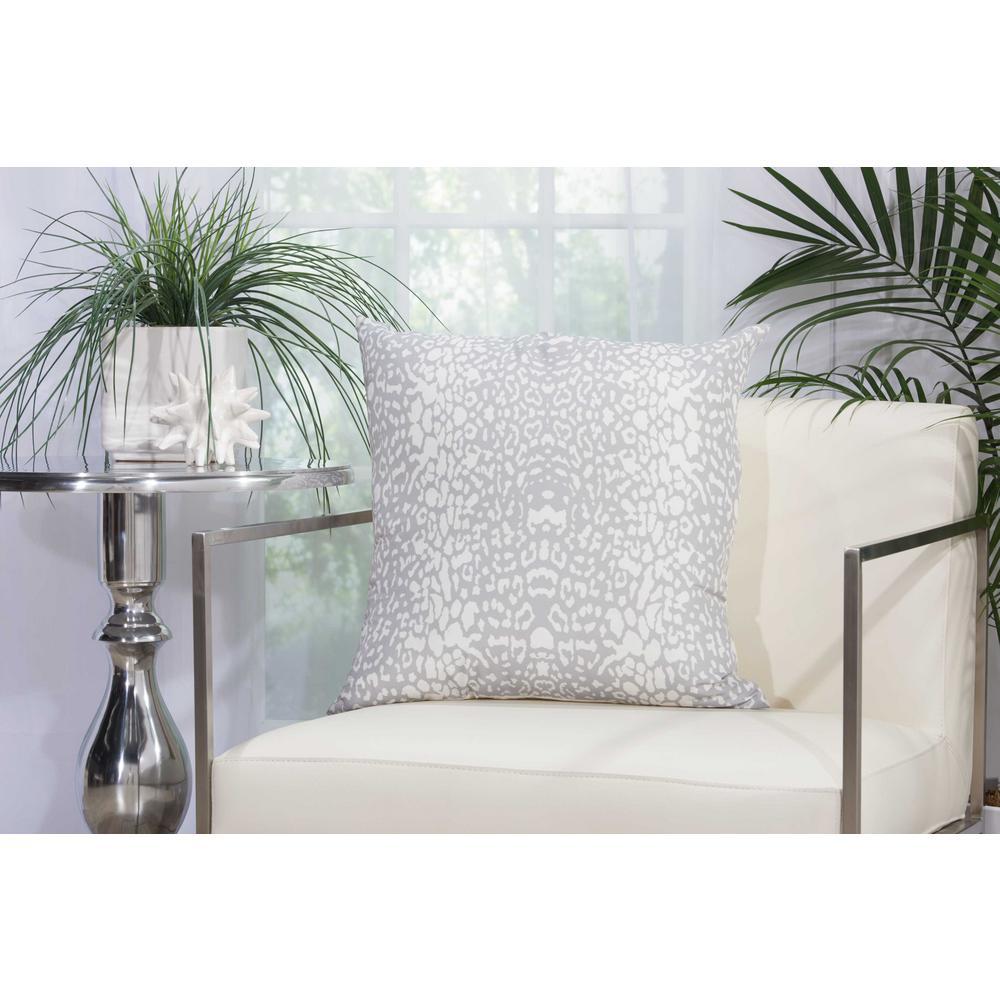 Leopard Grey Polyester Standard Throw Pillow