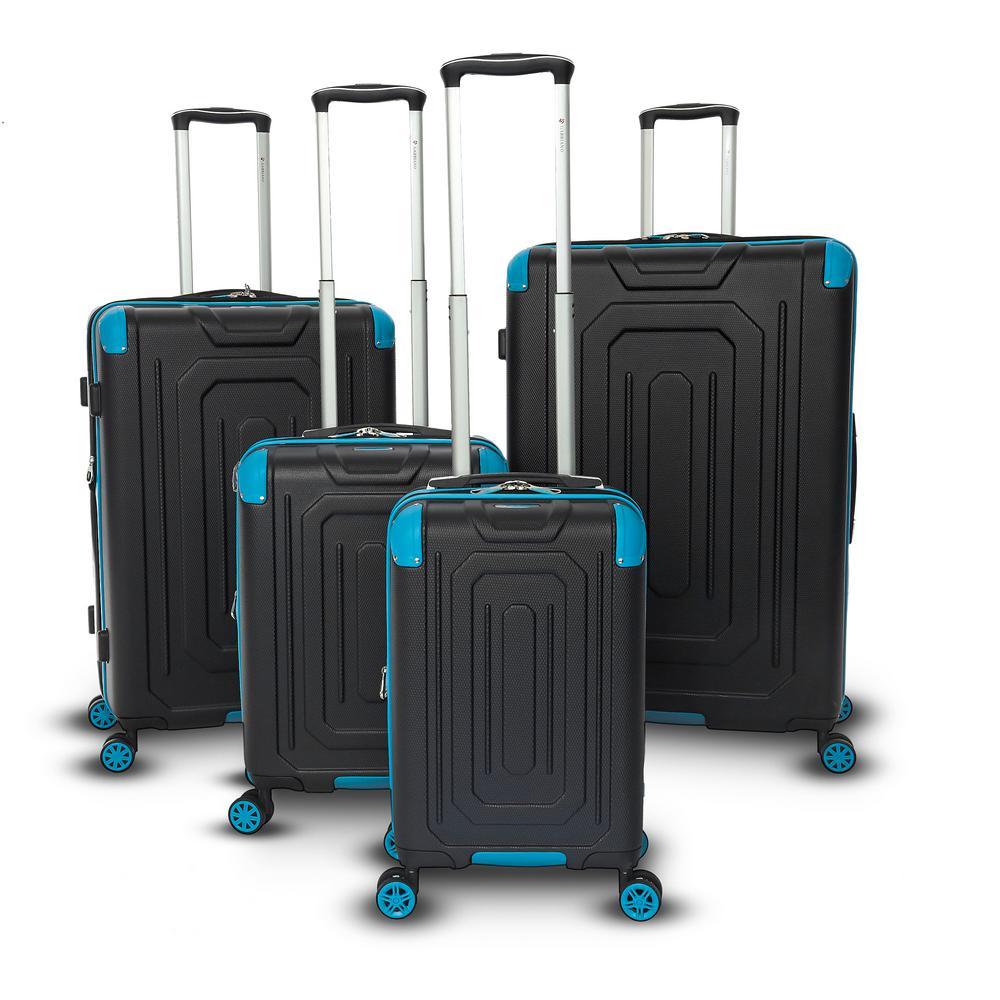 Cordoba 4-Piece Blue Hard Side Upright Spinner Luggage Set