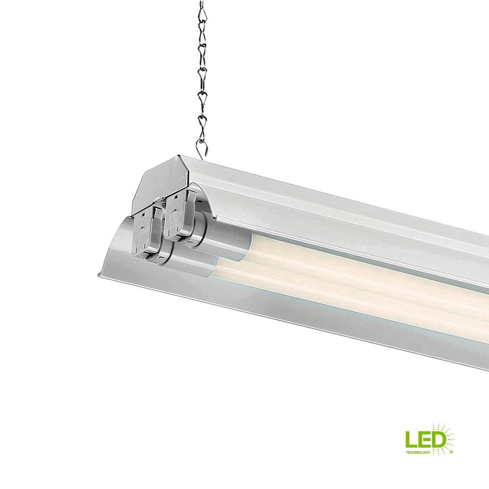 EnviroLite 4 Ft. 2-Light White LED Shop Light With T8 LED