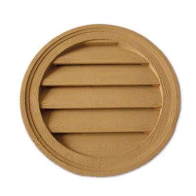 18 in. x 18 in. x 1-5/8 in. Polyurethane Timber Functional Round Louver Gable Vent