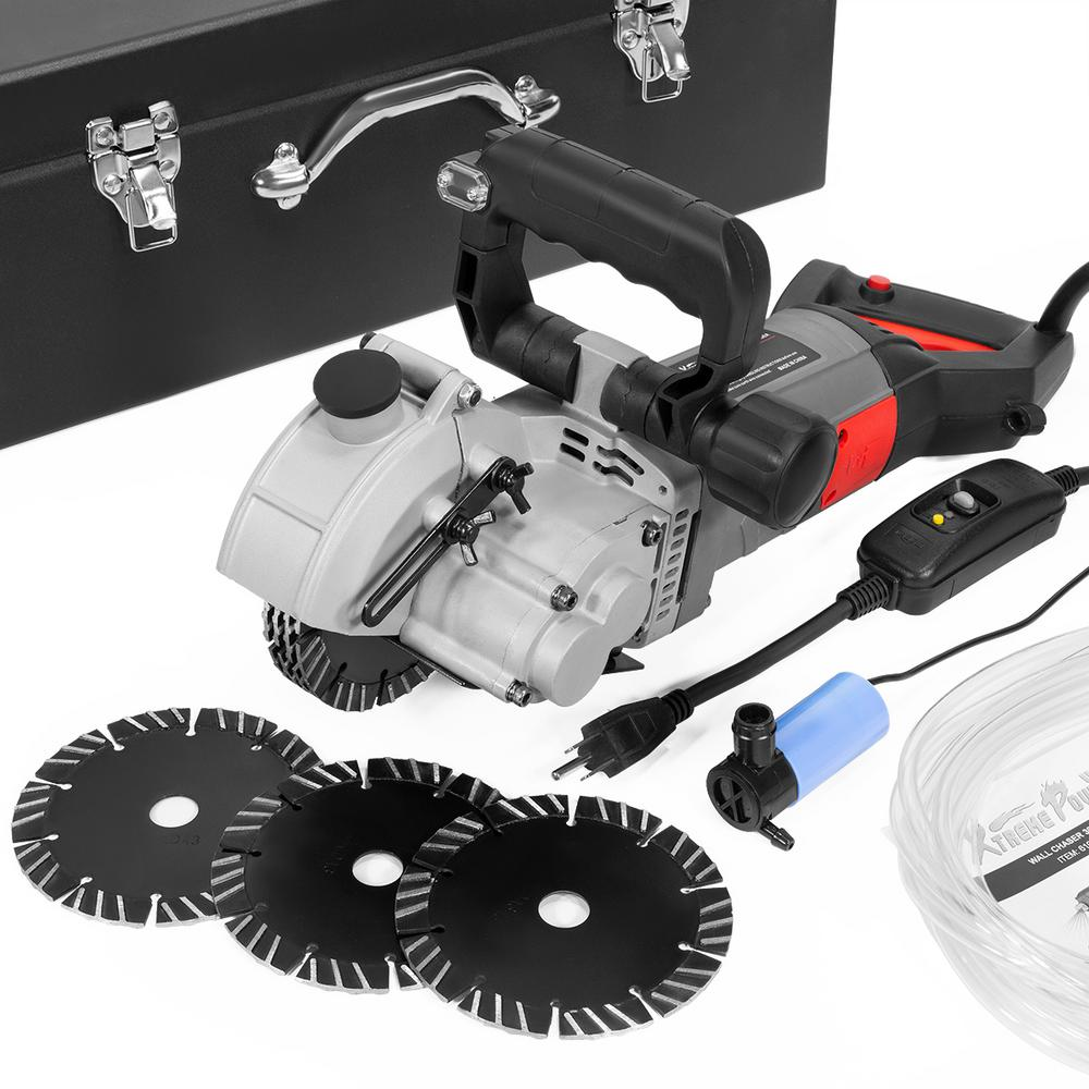 XtremepowerUS 5-1/4 in. 110-Volt Electric Wall Groove Chaser Slotter Cutting Machine Built-in Infrared Beam