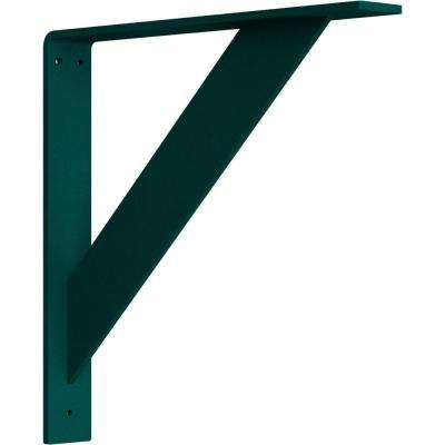 2 in. x 14 in. x 14 in. Steel Hammered Deep Green Traditional Bracket