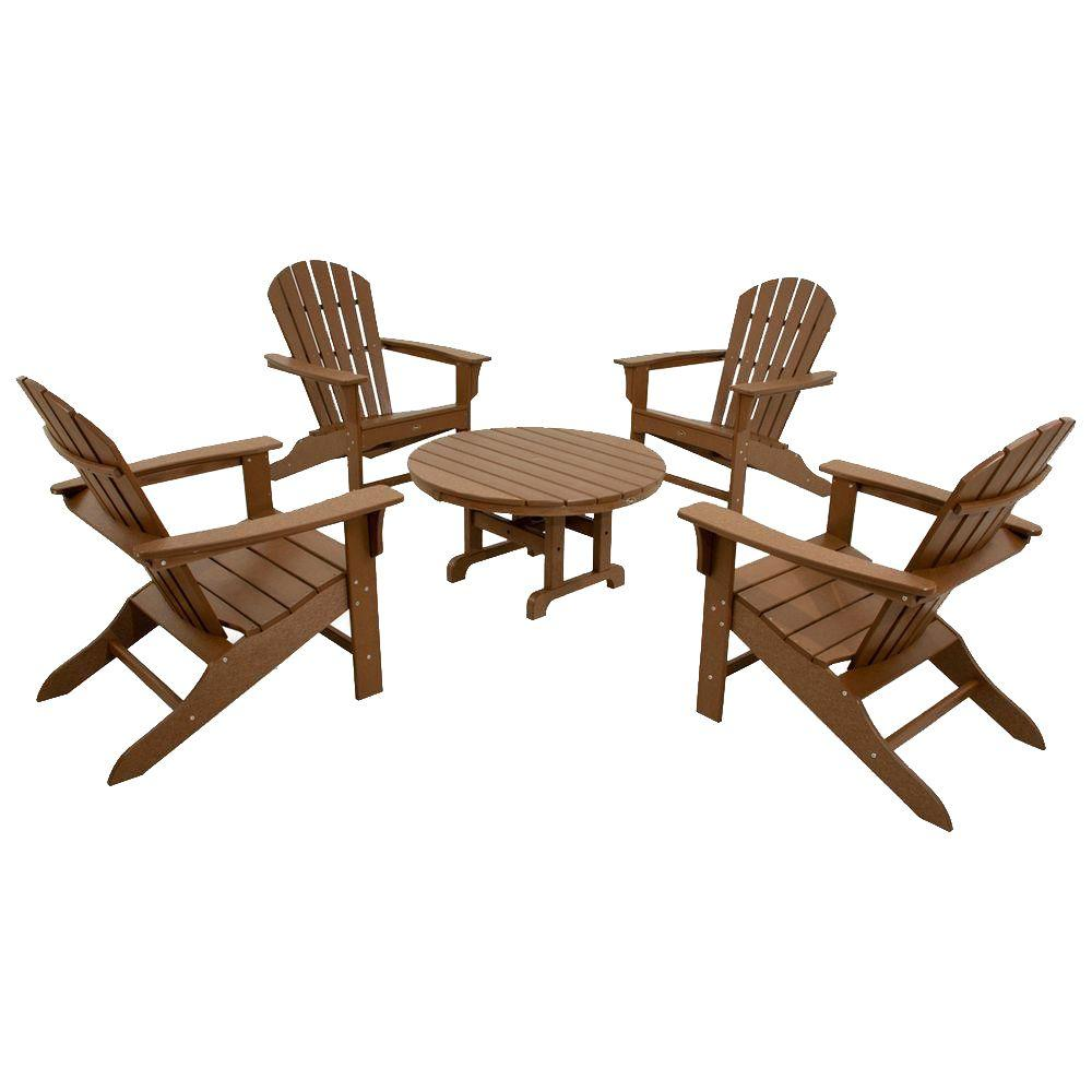 Trex Outdoor Furniture Cape Cod Tree House 5 Piece Adirondack Patio  Conversation Set