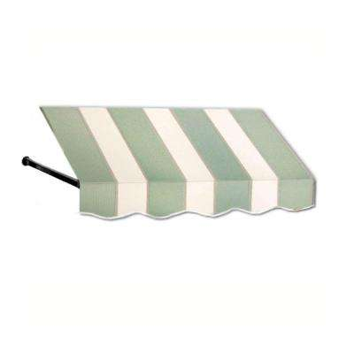 30 ft. Dallas Retro Window/Entry Awning (56 in. H x 48 in. D) in Olive/Tan Stripe