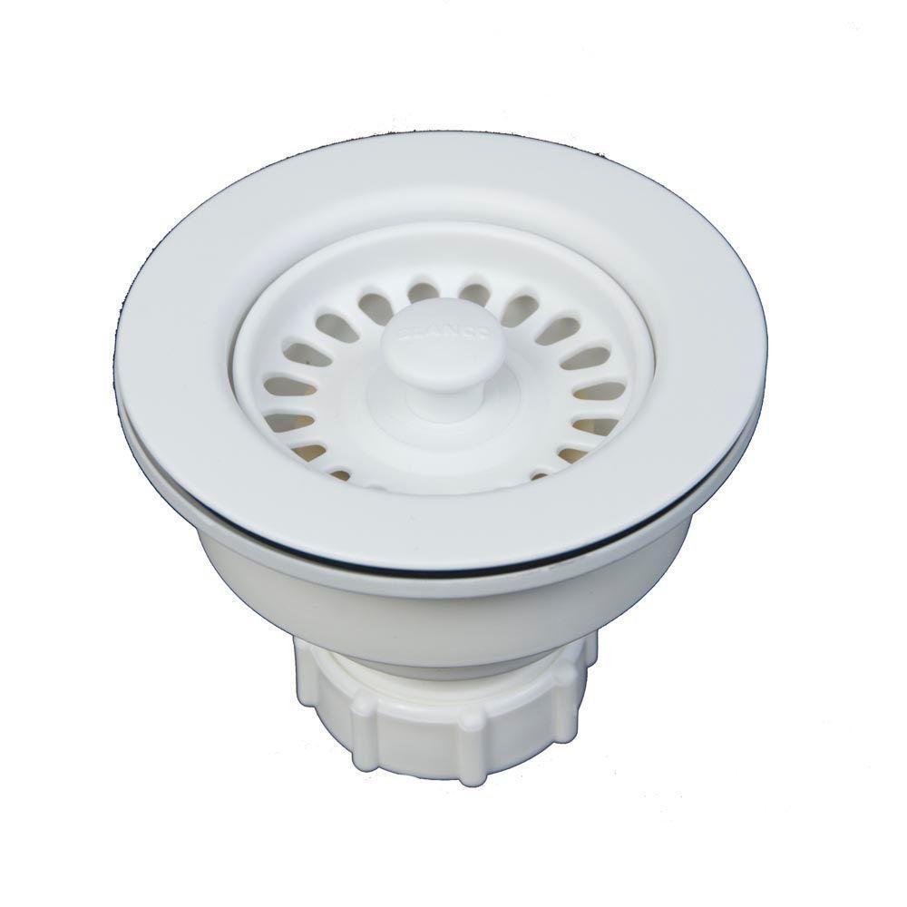 Blanco 3.5 In. Decorative Basket Strainer In White