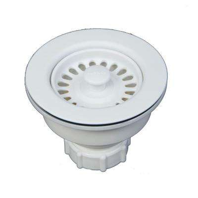 3.5 in. Decorative Basket Strainer in White