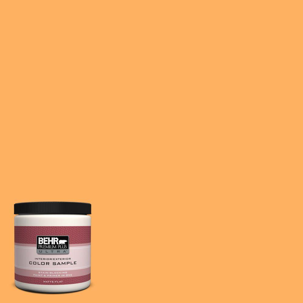 280b 5 Vintage Orange Matte Interior Exterior Paint And Primer In One Sample