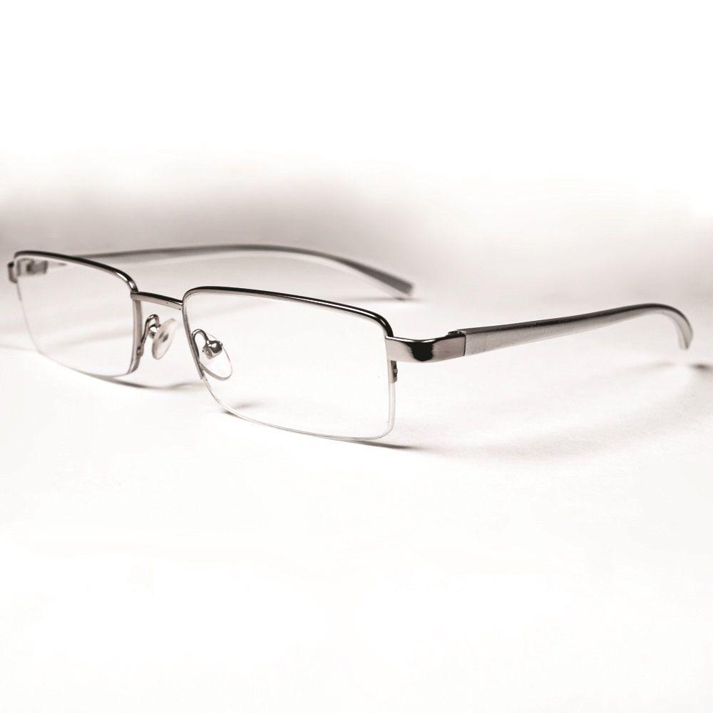 8224e8e52c6 Magnifeye Reading Glasses Modern Silver 3.5 Magnification-86014-14 ...