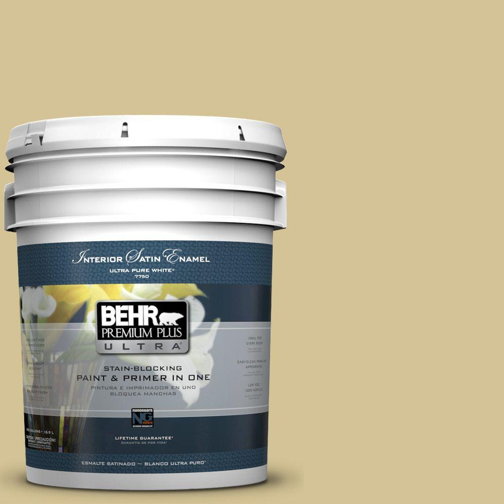 BEHR Premium Plus Ultra 5-gal. #M310-4 Almondine Satin Enamel Interior Paint