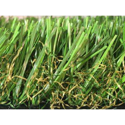 GREENLINE 3D-W Premium 65 Spring Artificial Grass Synthetic Lawn Turf for Outdoor Landscape 15 ft. x Custom Length