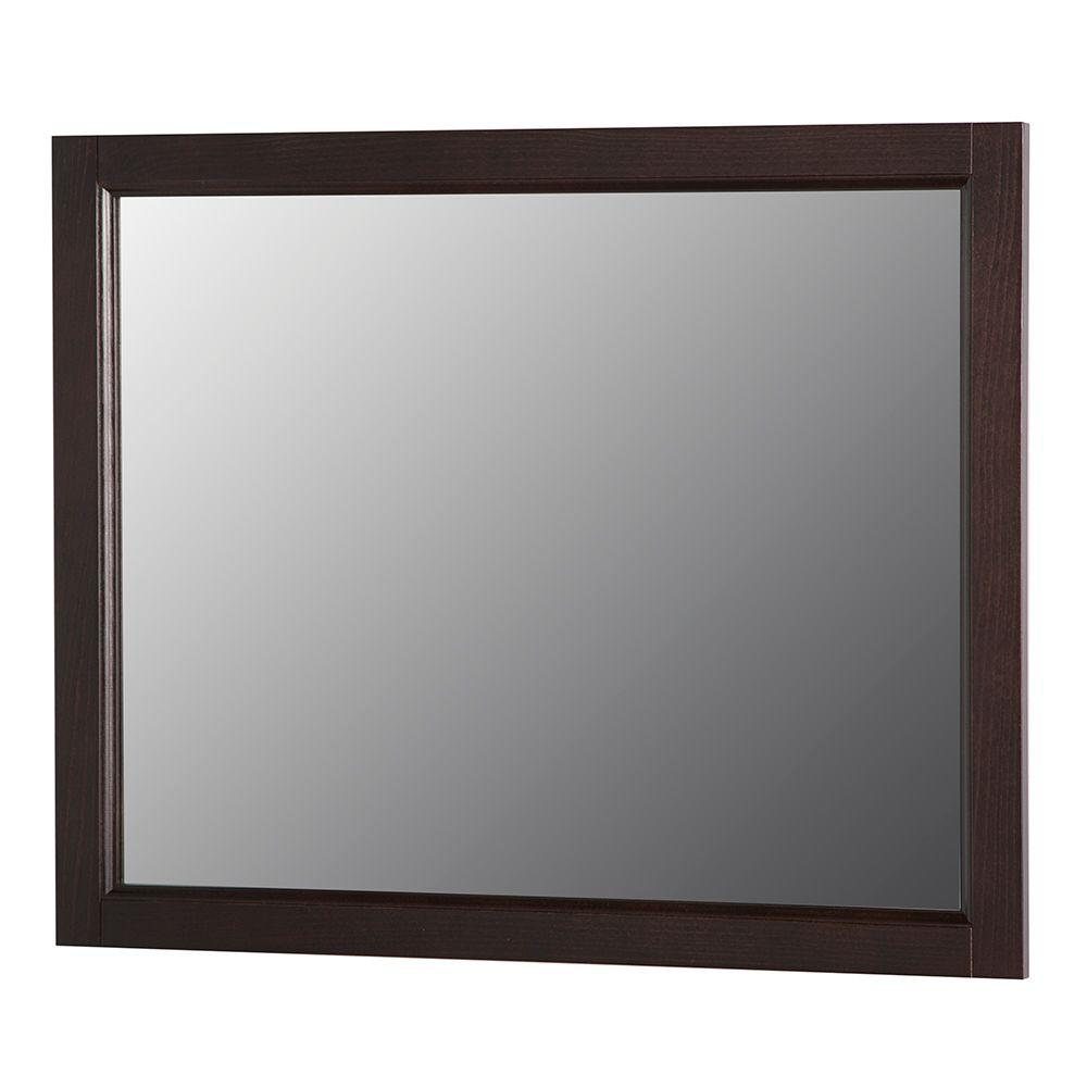 Home Decorators Collection Claxby 32 In W X 26 H Wall Mirror Chocolate Srwm26 Ch The Depot
