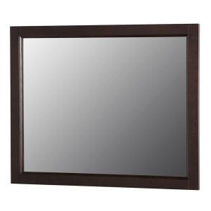 Home Decorators Collection Claxby 32 inch W x 26 inch H Wall Mirror in Chocolate by Home Decorators Collection