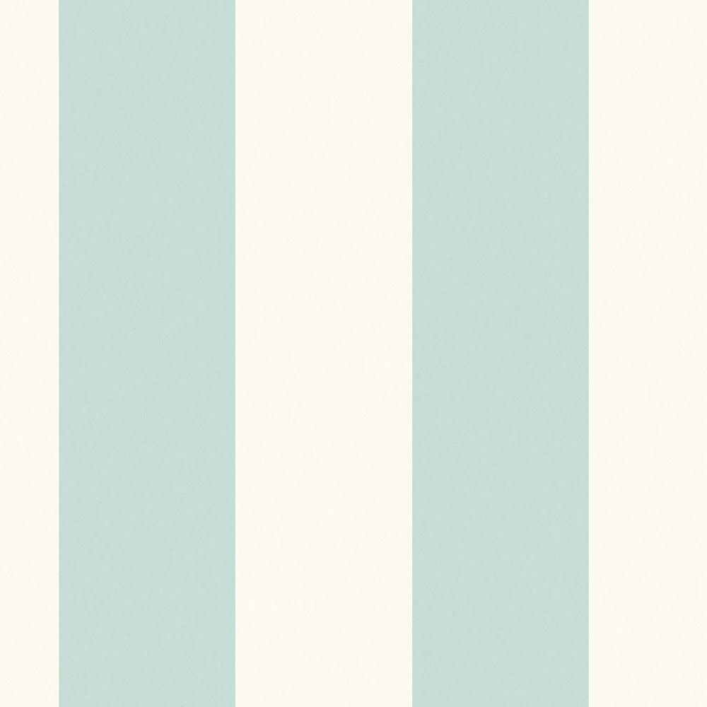 The Wallpaper Company 56 sq. ft. Blue and White Extensive Stripe Wallpaper