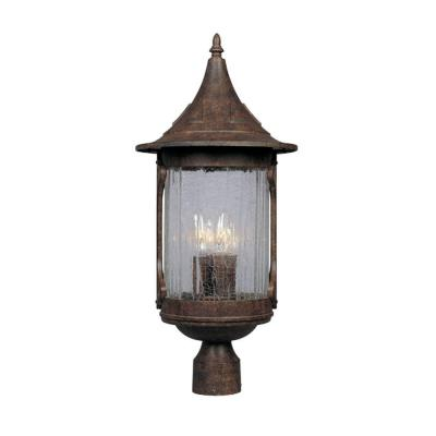 Canyon Lake 3-Light Chestnut Outdoor Post Lantern
