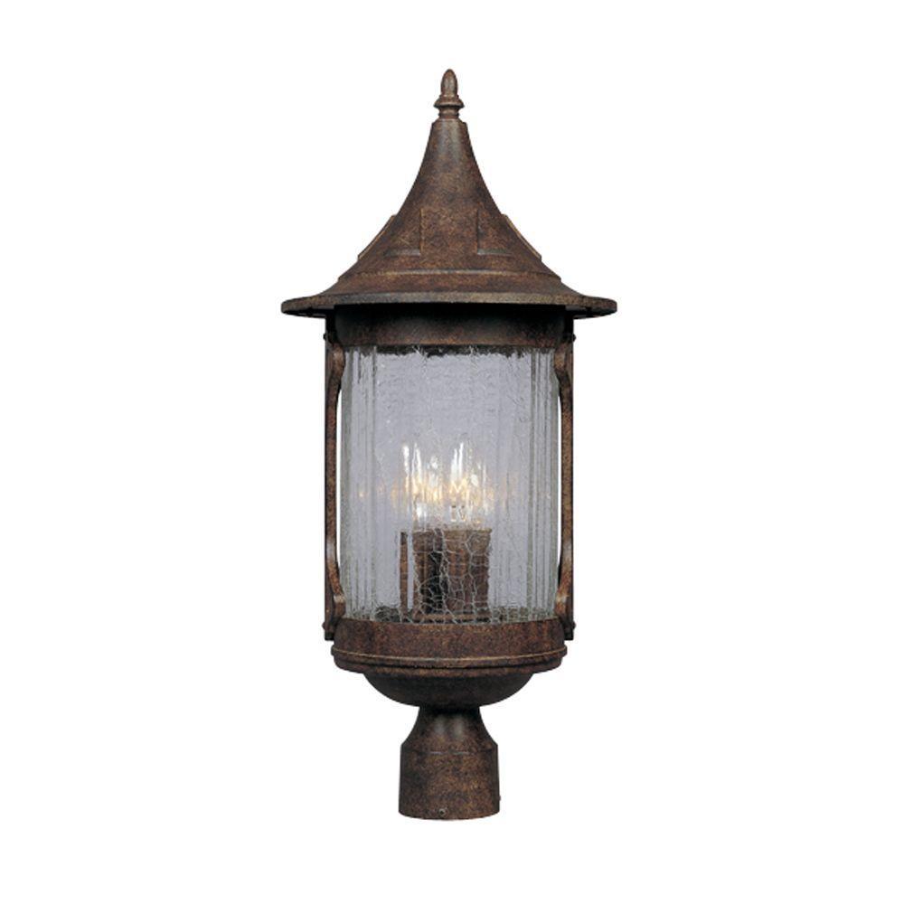 Mill Creek 3-Light Chestnut Outdoor Post Lantern