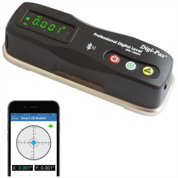 6 in. 2-Axis Smart Master Precision Level Bluetooth 0.0002/feet (0.02 mm/m)