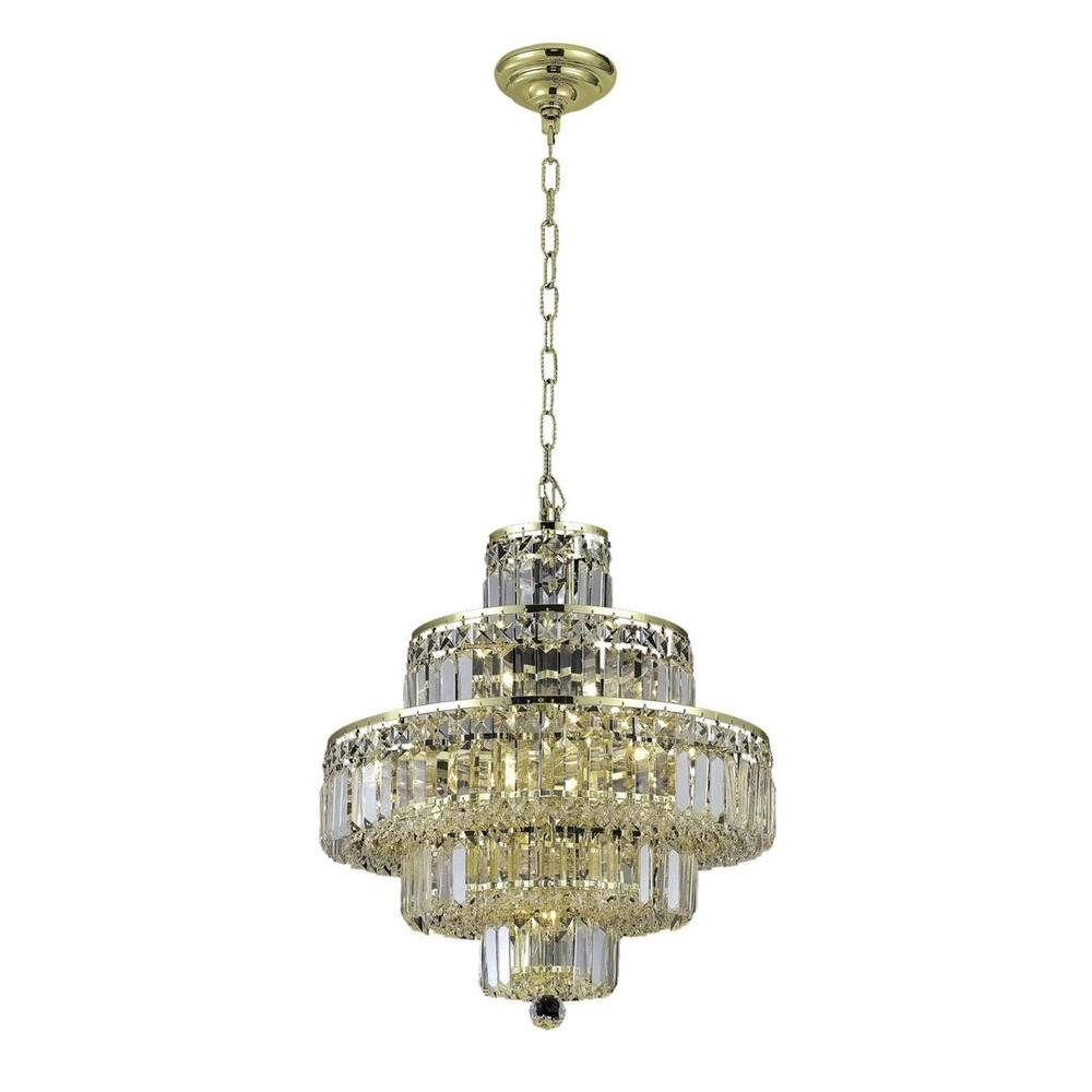 Elegant Lighting 13-Light Gold Chandelier with Clear Crystal