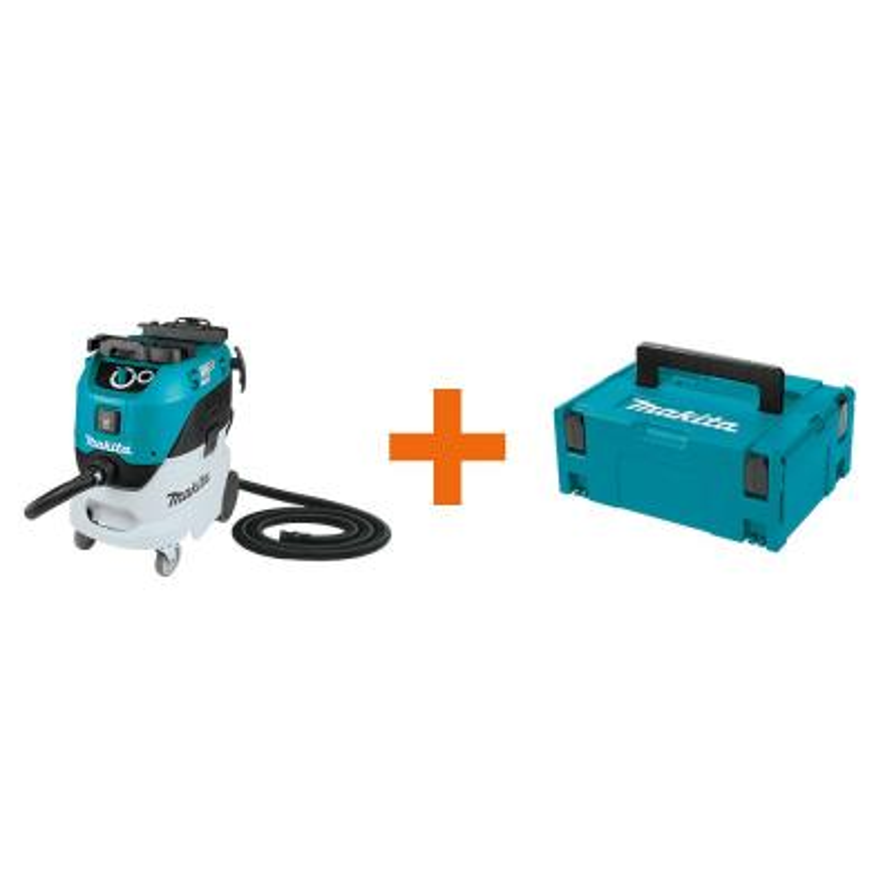 11 Gal. Wet/Dry HEPA Filter Dust Extractor/Vacuum with bonus 15.5 in. Medium Interlocking Tool Box