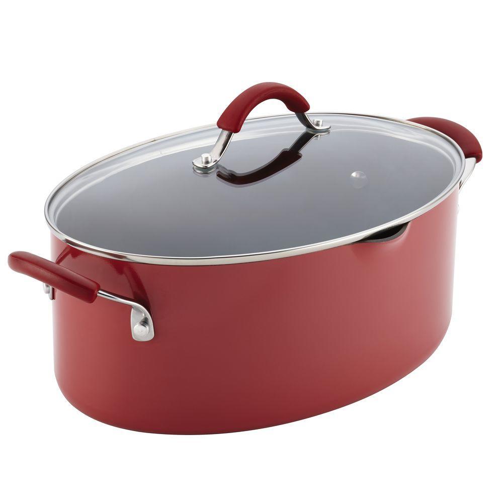 Cucina 8 Qt. Aluminum Stock Pot with Lid