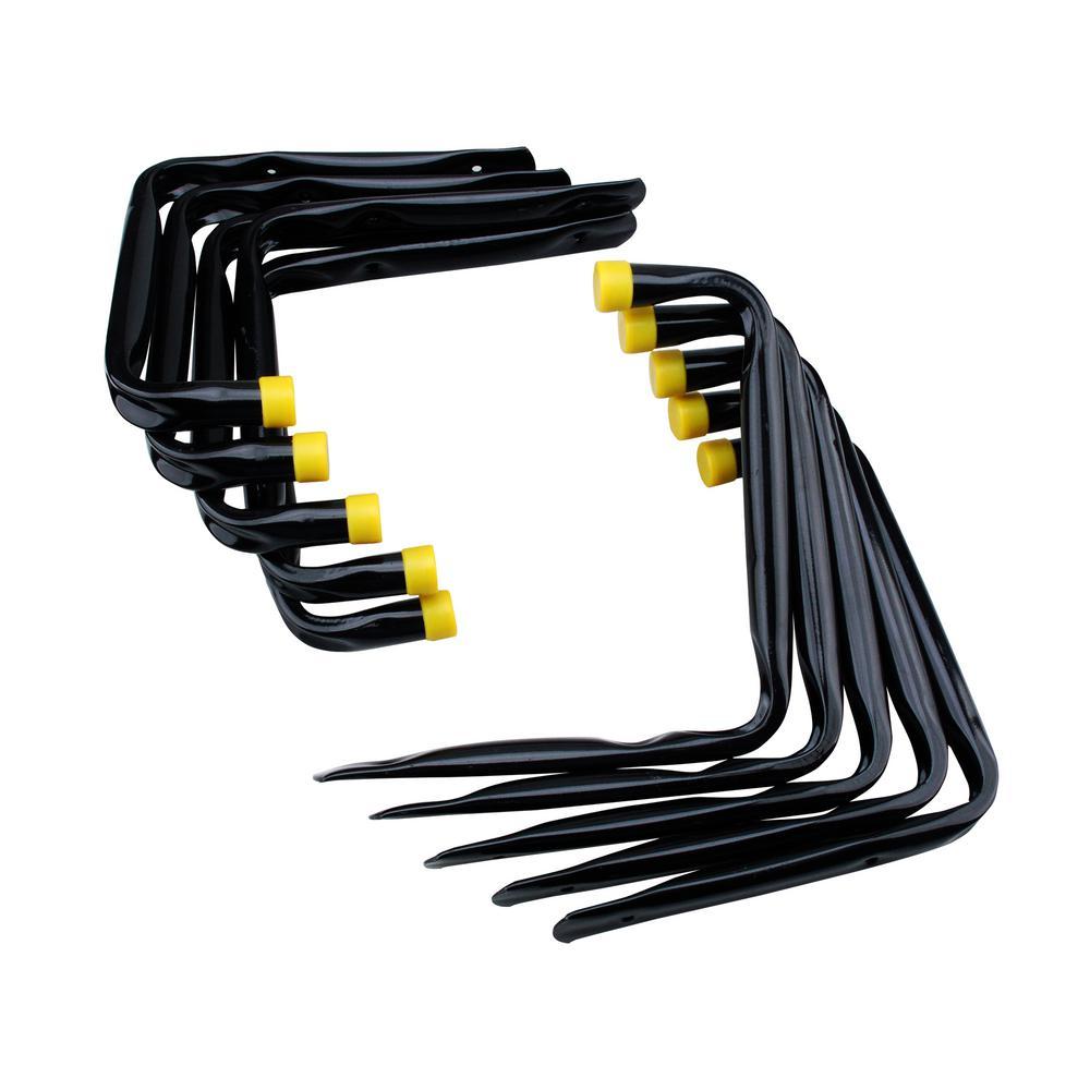 L-Shape Hang-Alls, Black (10-Pack)