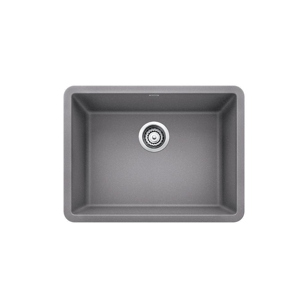 PRECIS Undermount Granite Composite 24 in. Single Bowl Kitchen Sink in Metallic Gray