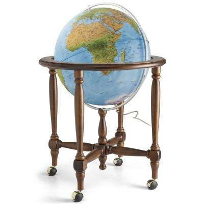 Monaco 20 in. Blue Ocean Illuminated Globe