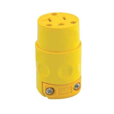 20 Amp 125-Volt 3-Wire Connector, Yellow