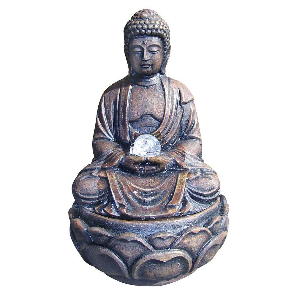 ORE International 12 in. Buddha Fountain with Crystal