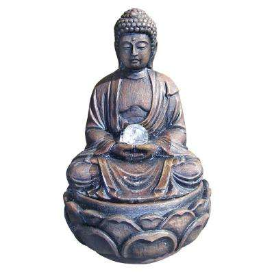 12 in. Buddha Fountain with Crystal
