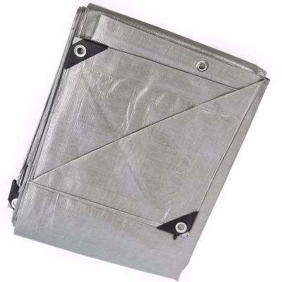 12 ft. x 20 ft. Silver Heavy Duty All-Weather Proof Poly Tarpaulin Tent Cover Tarp