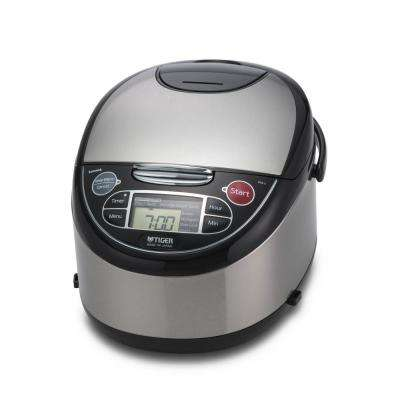 Micom 5.5 Cup Rice Cooker with Tacook Cooking Plate - Stainless Steel