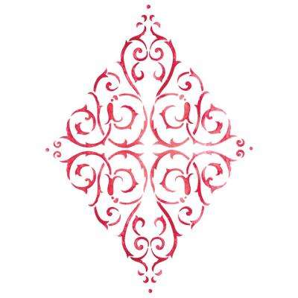 Diamond Medallion Wall Stencil